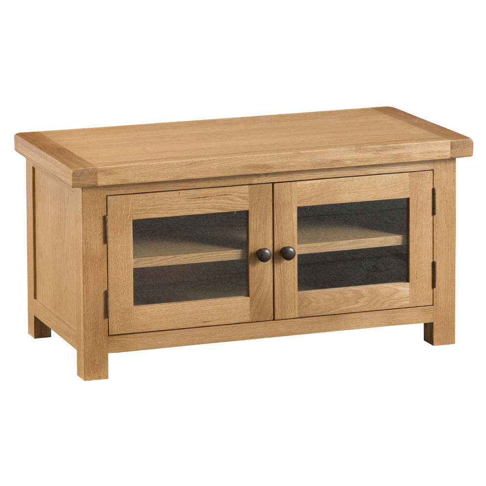 Oakley Rustic Standard TV Unit with Glass doors