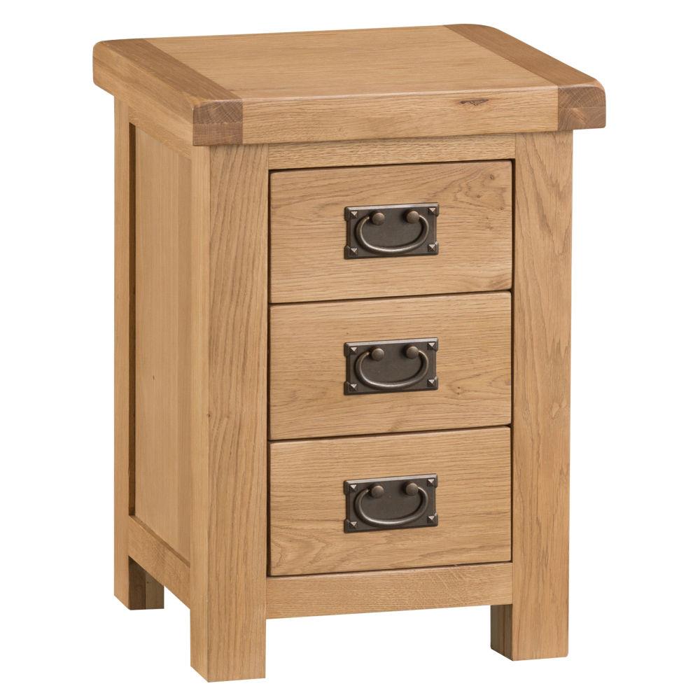 Oakley Rustic 3 Drawer Bedside
