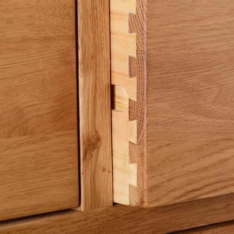 Maiden Oak 3 Drawer Bedside