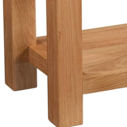 Maiden Oak 2 Drawer Console Table