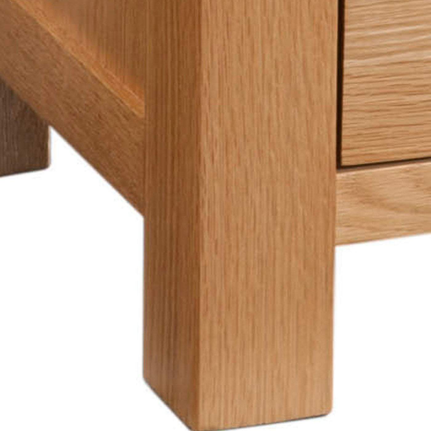 Maiden Oak Compact 3 Drawer Bedside