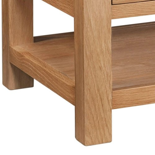 Maiden Oak Coffee Table with 2 Drawers