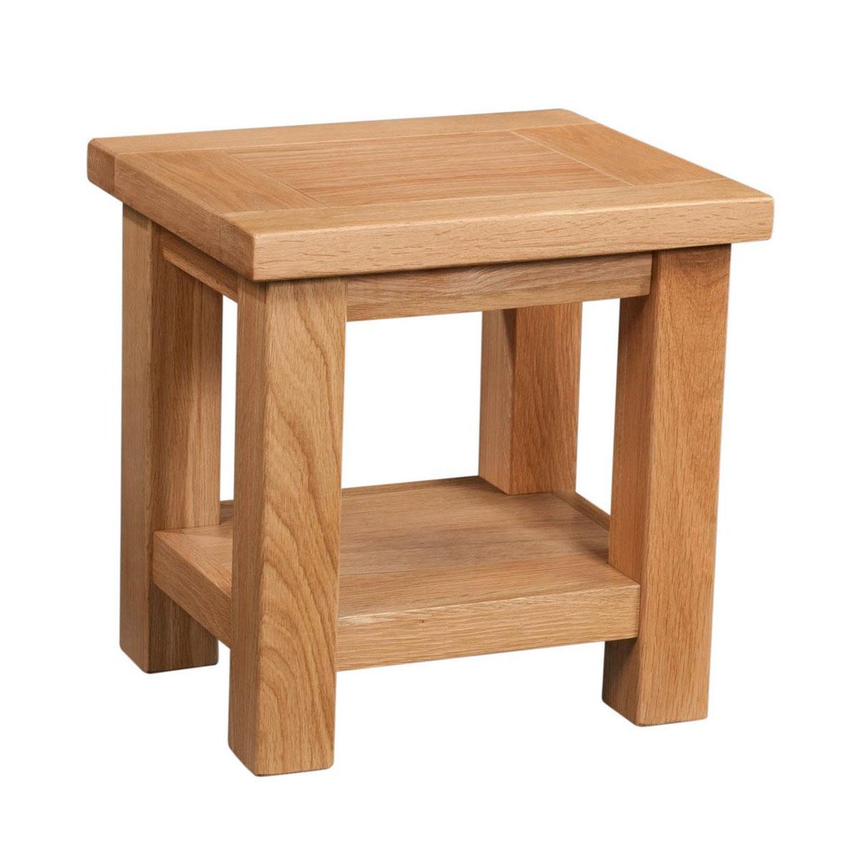 Maiden Oak Lamp Table