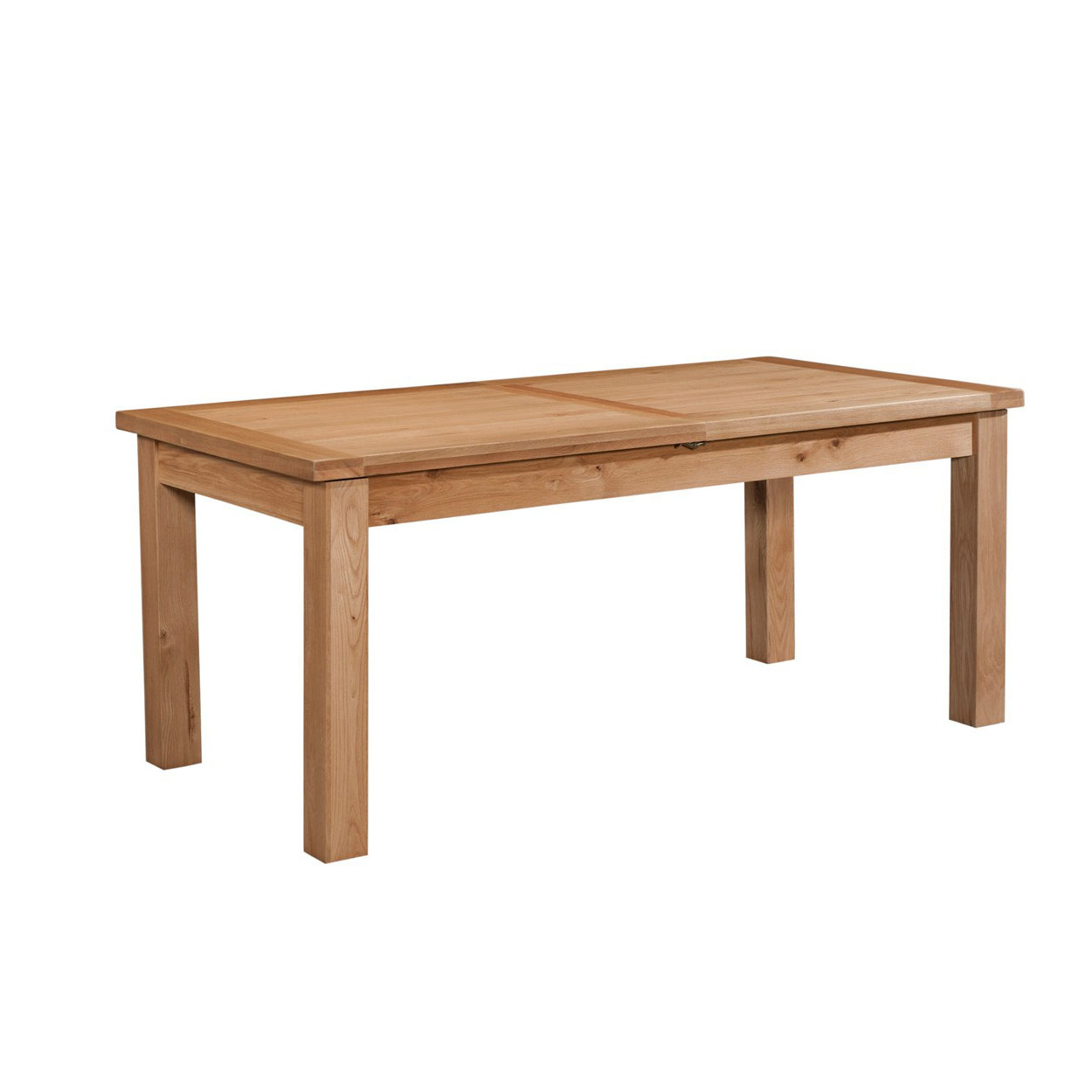 Maiden Oak Dining Table with 2 Extensions 132-198cm