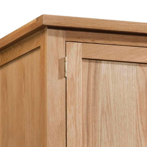 Maiden Oak Gents Wardrobe with 2 Drawers