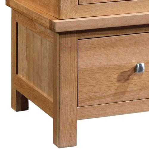 Maiden Oak Triple Wardrobe with 3 Drawers