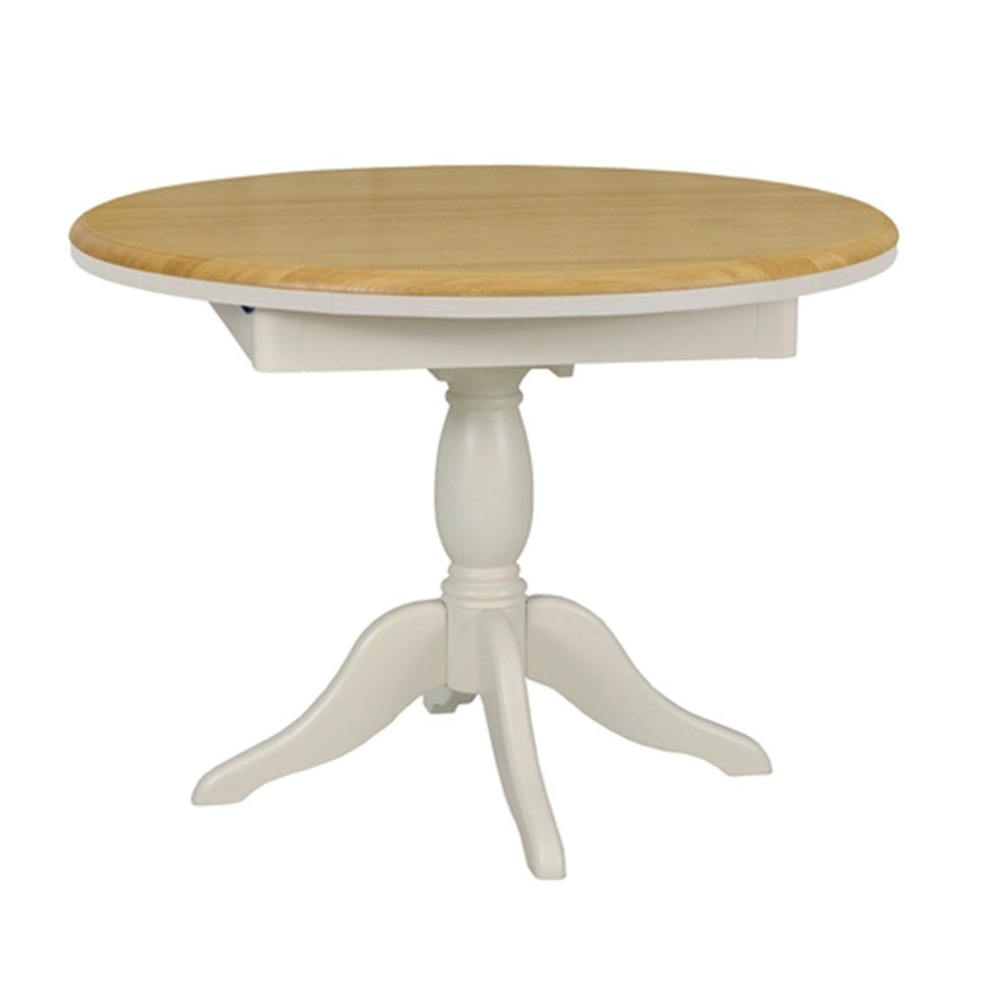 Stag Cromwell 106-145cm Extending Round Pedestal Dining Table