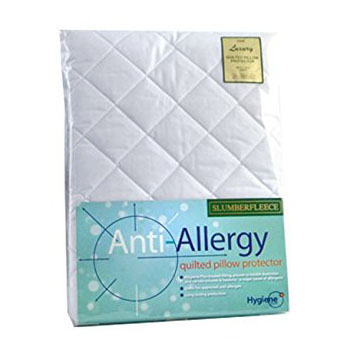 Slumberfleece Luxury Anti-Allergy Pillow Protector Quilted