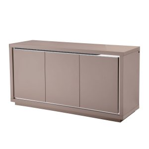 Bremen 3 Door Sideboard with LED Cream
