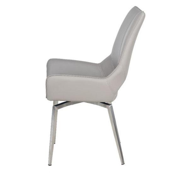Tallinn Swivel Dining Chair Taupe