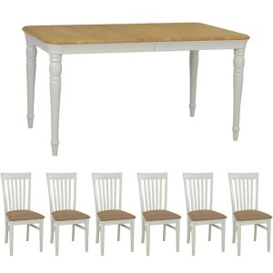 Stag Cromwell Extending Dining Table & 6 Elizabeth Chairs
