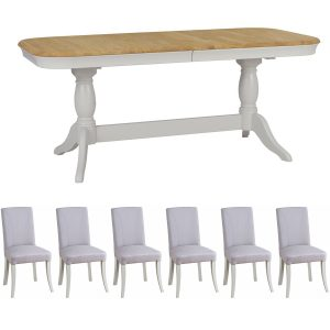 Stag Cromwell Oval Extending Table & 6 Balmoral Chairs