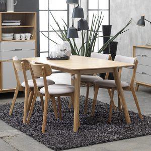 Scandi Dining Chair Light Grey