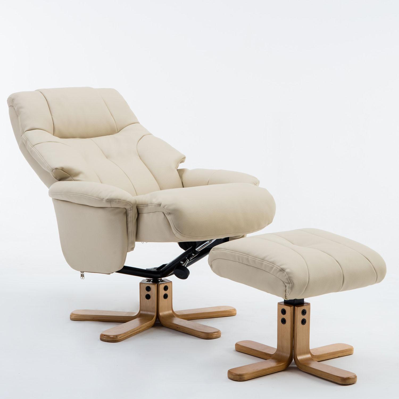 Dublin Chair & Stool Cream Plush PU