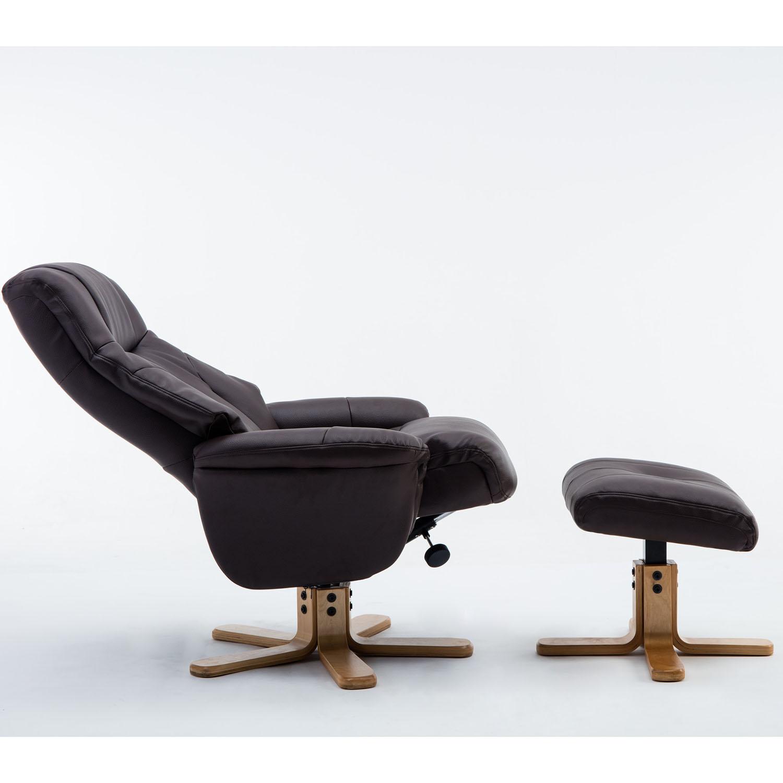 Dublin Chair & Stool Brown Plush PU
