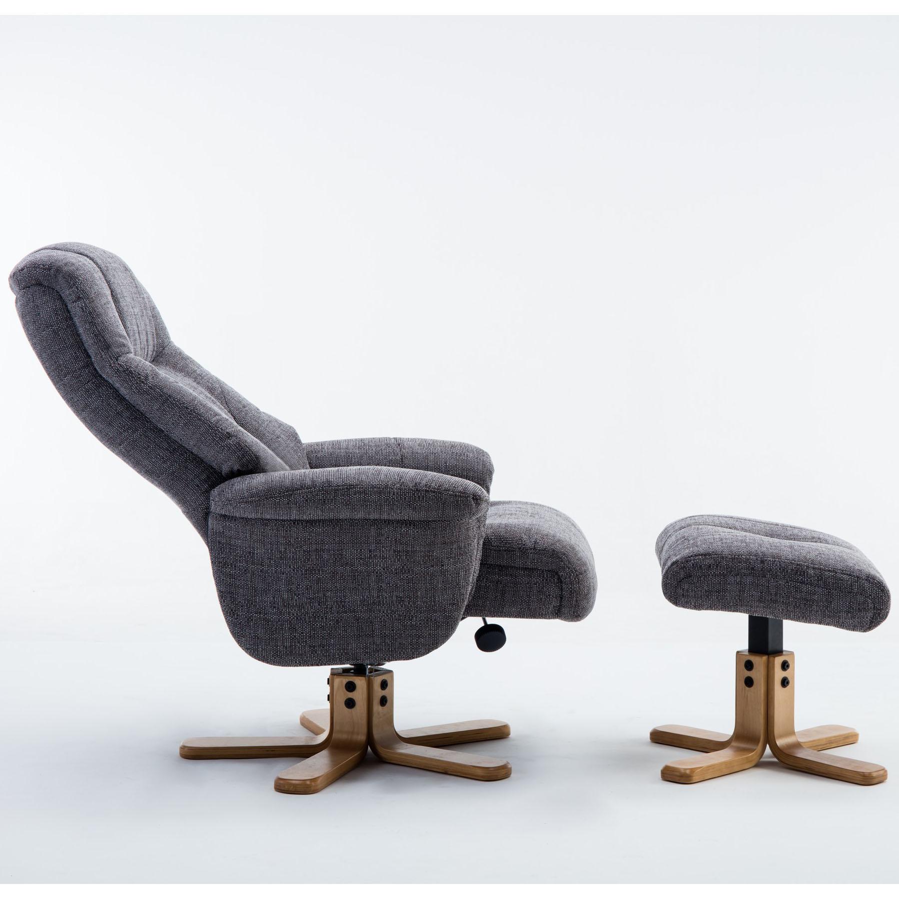 Dublin Chair & Stool Lisbon Grey Fabric
