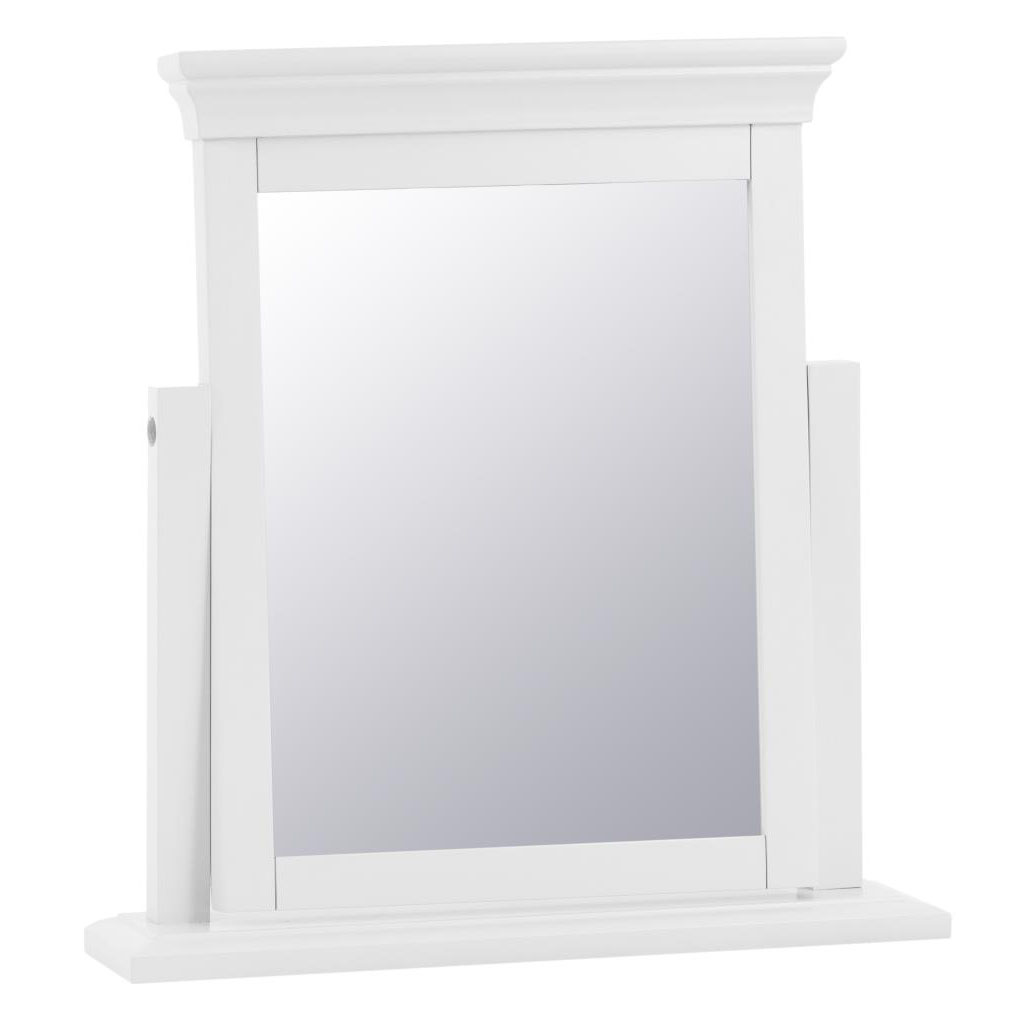 Croft White Trinket Mirror