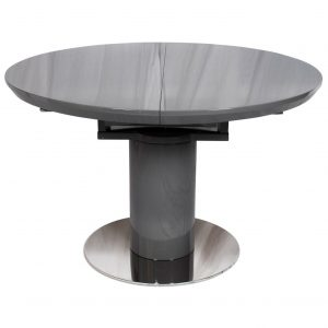 Varna Round Extending Dining Table 120-160xm Grey