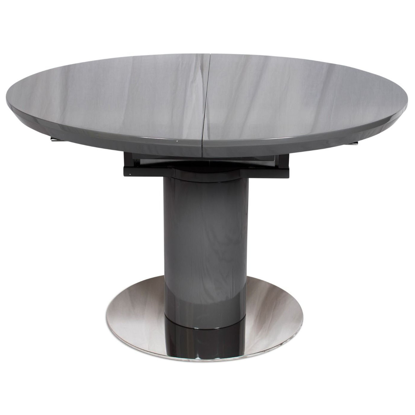 Varna Round Extending Dining Table 120 160xm Grey Collingwood Batchellor