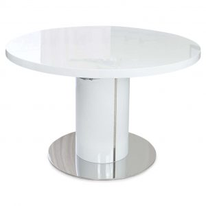 Varna Round Extending Dining Table 120-160cm White