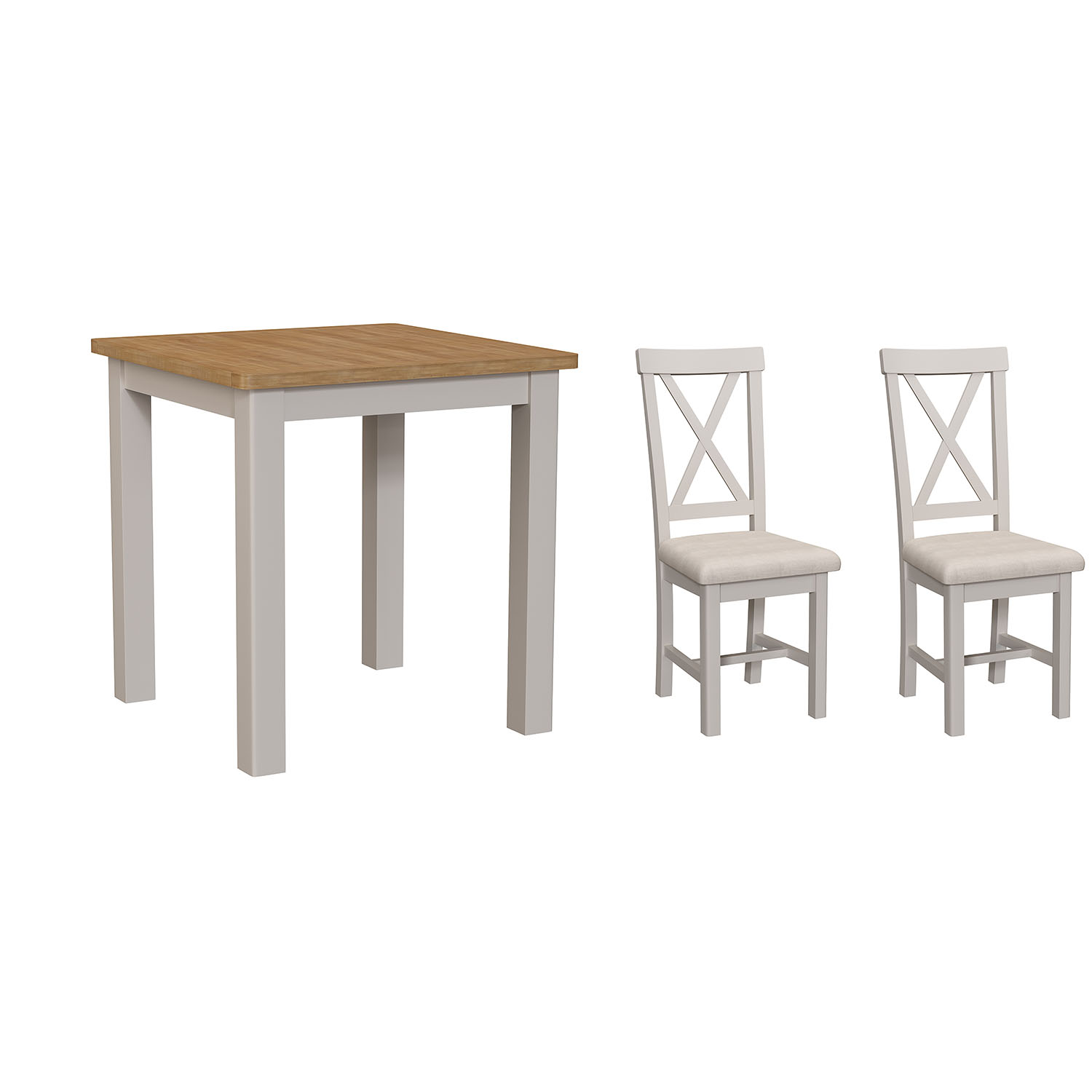 Chiltern Dove Fixed Top Table and x2 Chairs Set