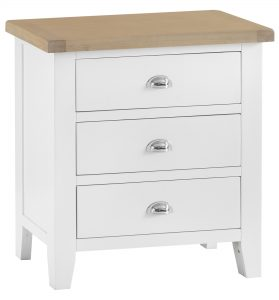 Henley White 3 Drawer Chest