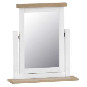 Henley White Trinket Mirror