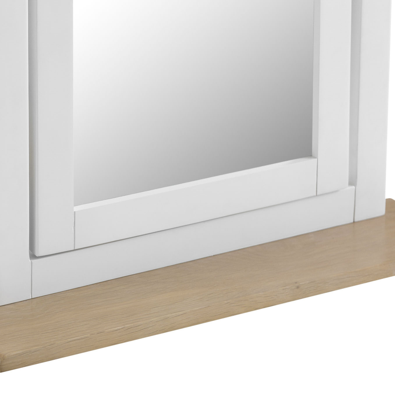 Henley White Trinket Mirror