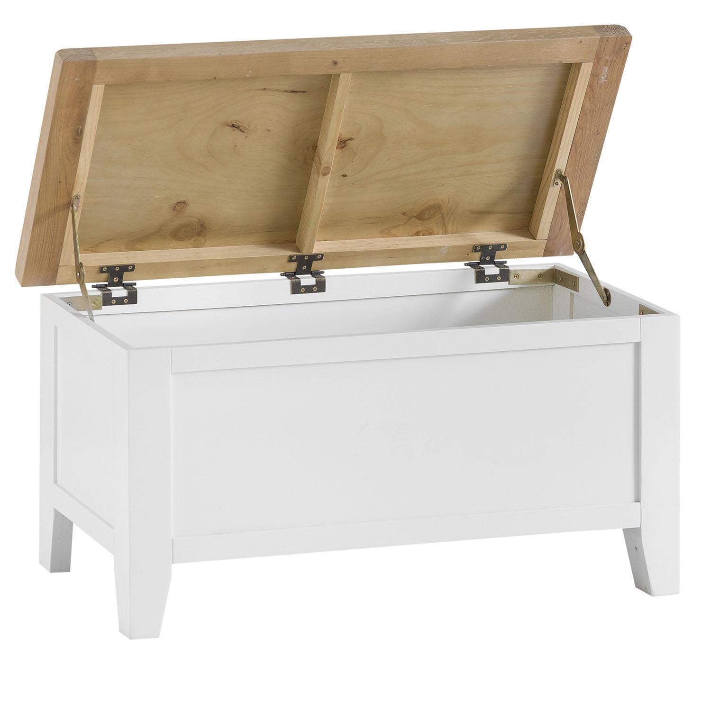 Henley White Blanket Box