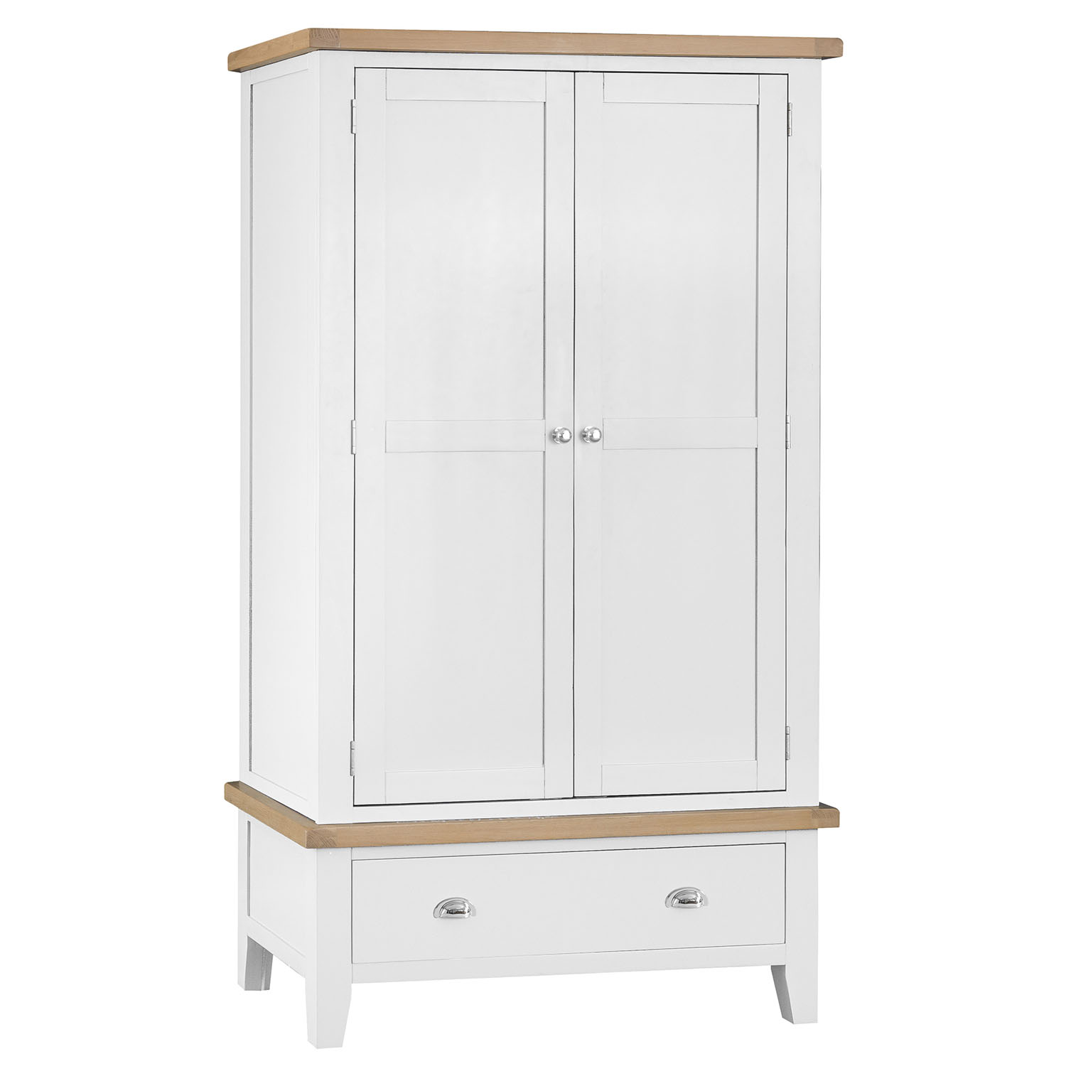Henley White Large 2 Door Wardrobe