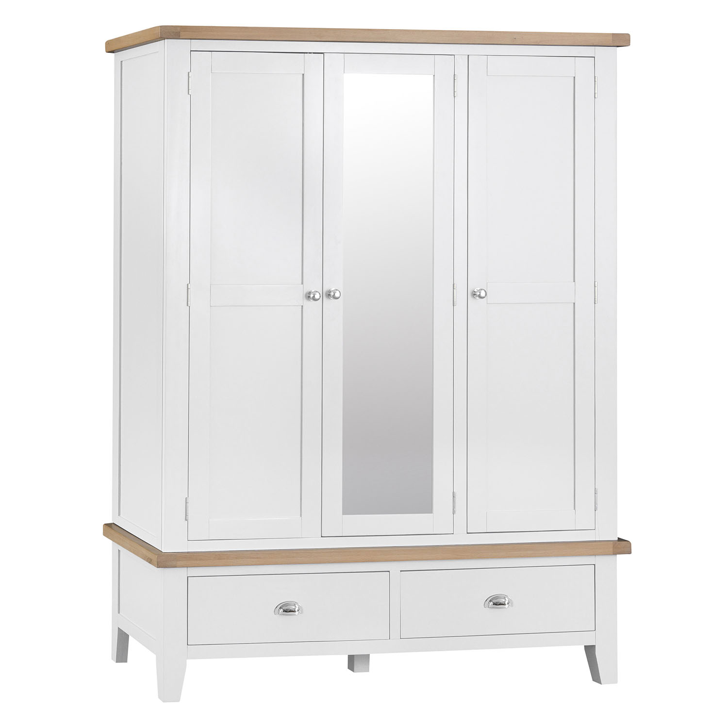 Henley White Large 3 Door Wardrobe