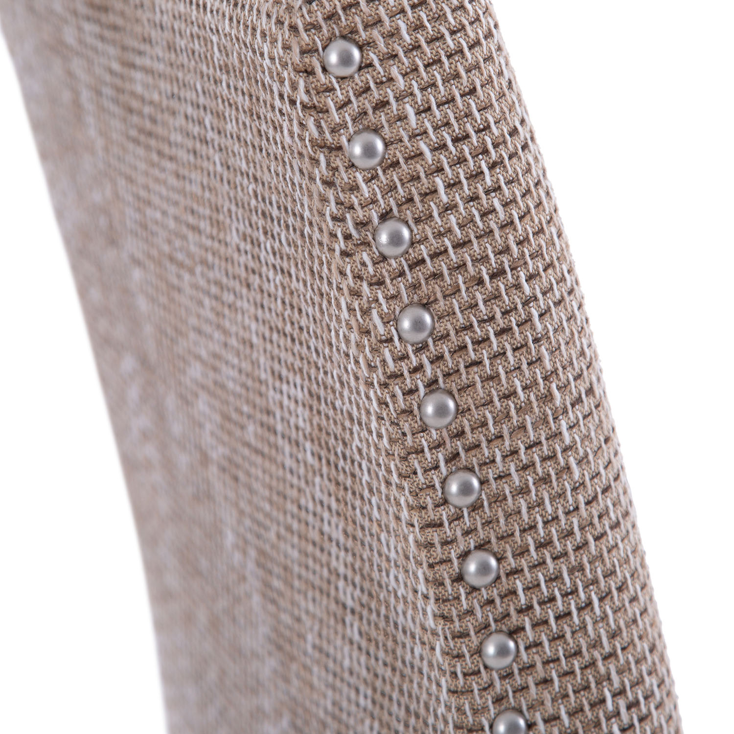 Studded Dining Chair Tweed