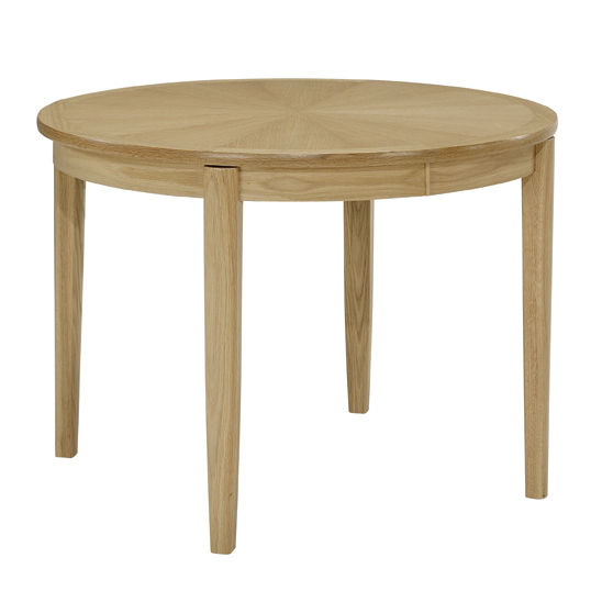 Nathan Shades Oak Circular Dining Table on Legs 2135