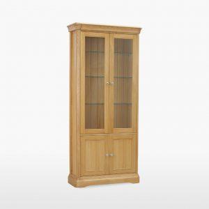Lamont Glazed Bookcase with 2 Doors