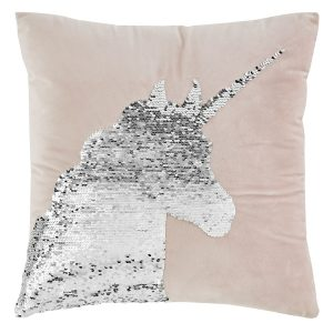 Catherine Lansfield Unicorn Sequin Cushion