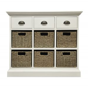 Stamford 3 Drawer 6 Basket Unit