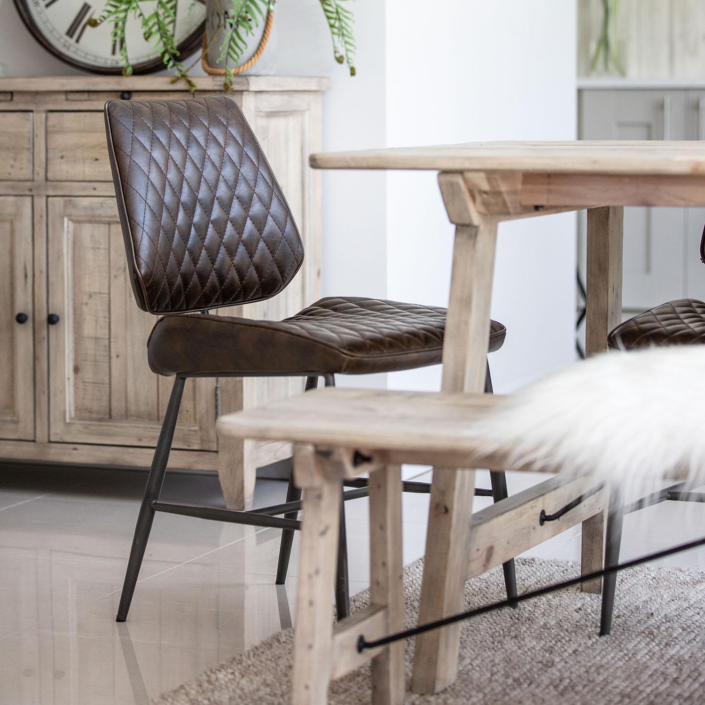 Azura 160cm Table and x6 Dalton Dining Set