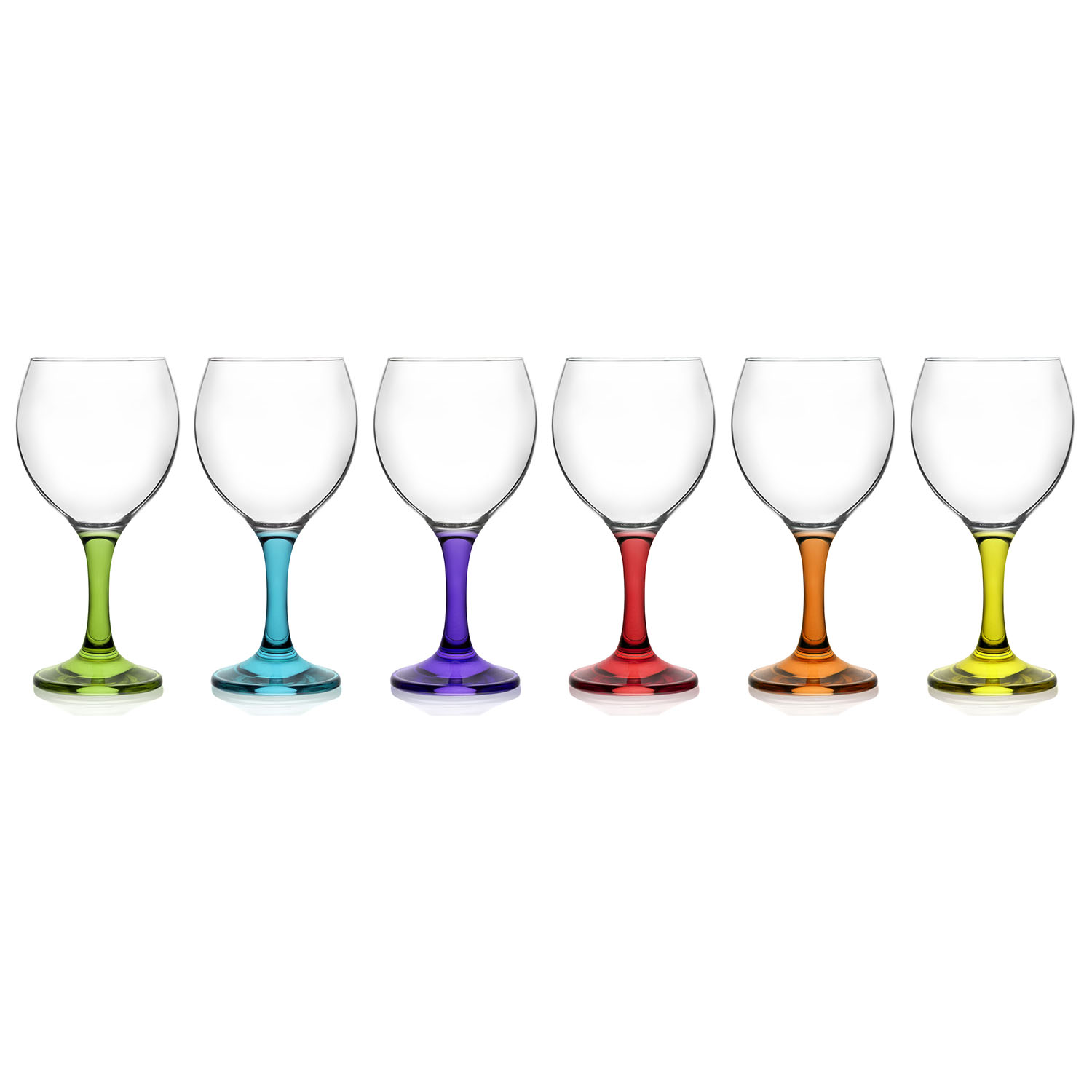 LAV Box of Coral Water/Wine Glasses