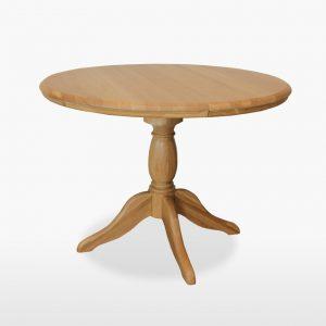Lamont Round 106-145cm Extending Single Pedestal Table