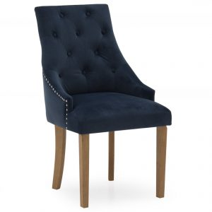 Hepburn Dining Chair - Velvet Midnight