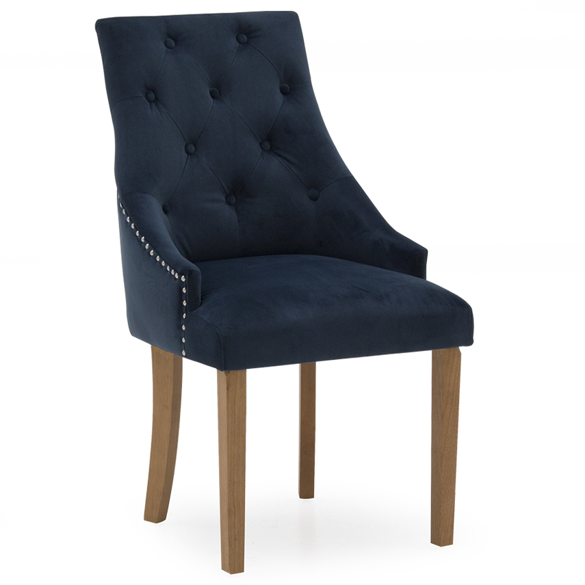 Hepburn Dining Chair - Velvet Midnight