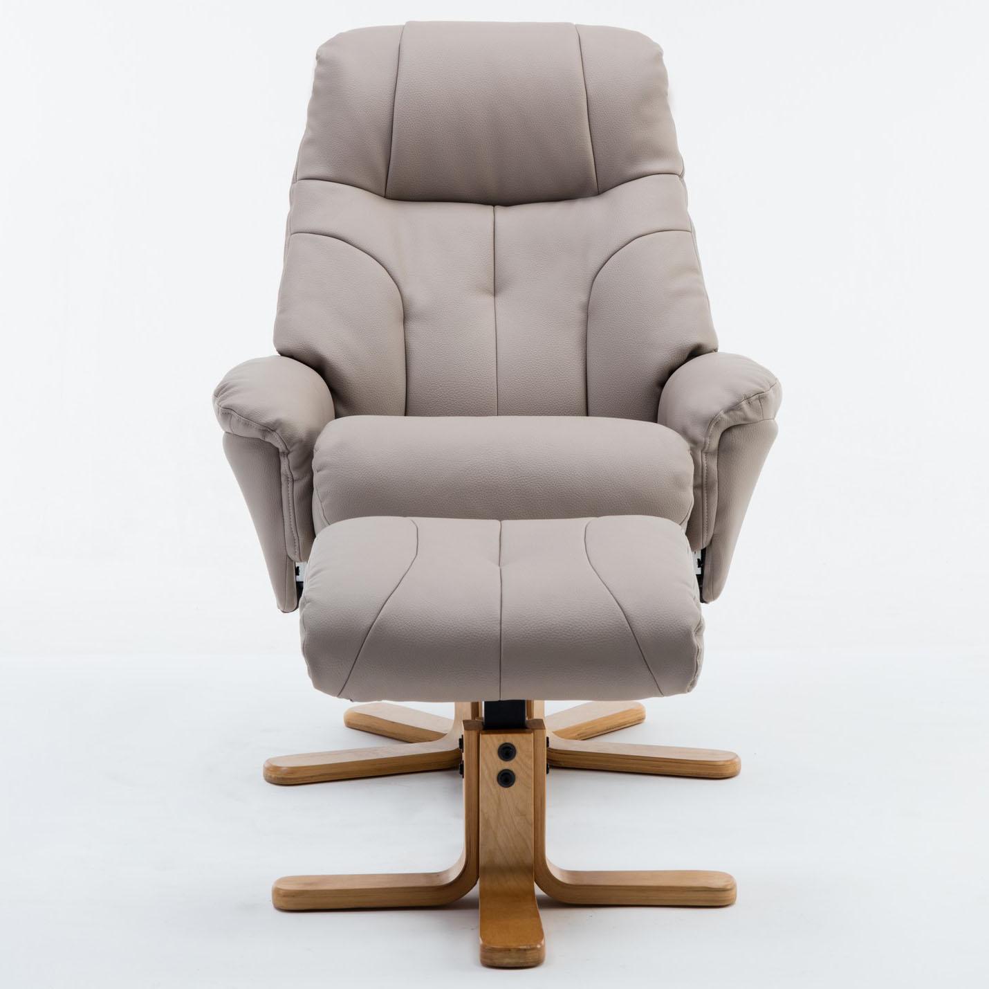 Dublin Chair & Stool Pebble Plush PU