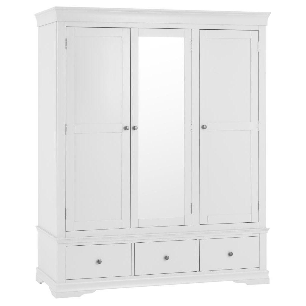Croft White Triple Wardrobe
