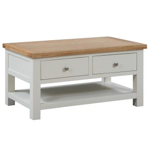 Maiden Oak Painted Coffee Table with 2 Drawers