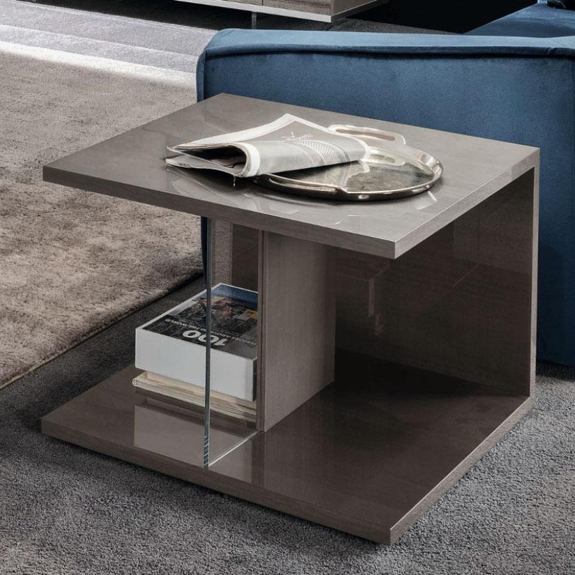 Mercury High Gloss Side Table