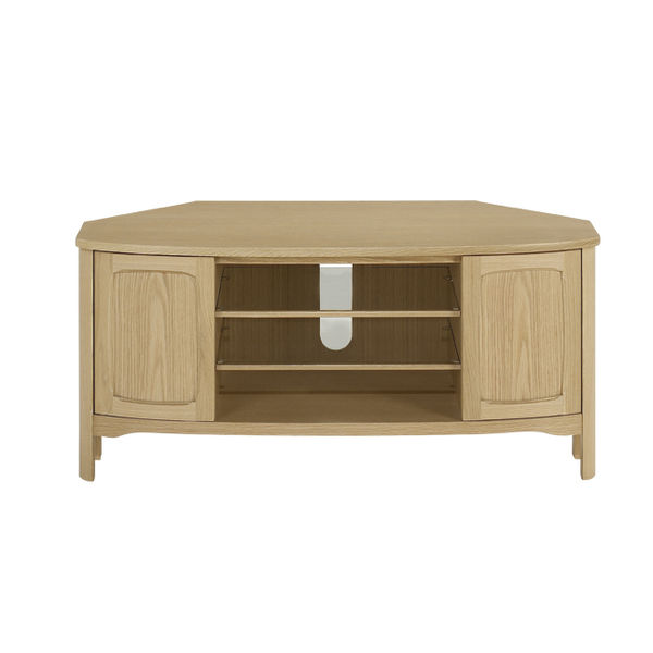 Nathan Shades Oak Shaped Corner TV Unit 5875