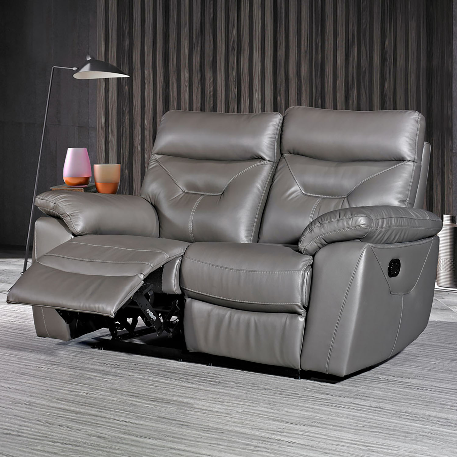Camo 2 Seater Recliner - Grey