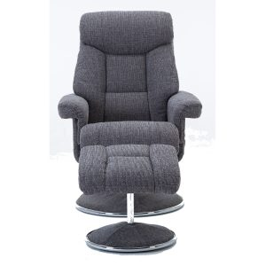 Bordeaux Swivel Recliner - Lisbon Grey