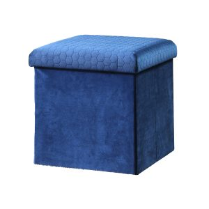 Sadie Foldable Ottoman- Blue