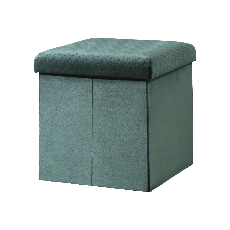 Sadie Foldable Ottoman - Green